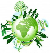 picture of planet earth  - Global eco - JPG