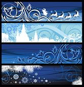 Christmas Banners. All elements and textures are individual objects. Vector illustration scale to any size.