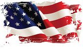 American flag. All elements and textures are individual objects. Vector illustration scale to any size.