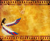 Wall with Egyptian goddess image - Isis