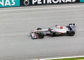 Sepang, Malaysia - April 8: Kamui Kobayashi (team Sauber) At First Practice On Formula 1 Gp