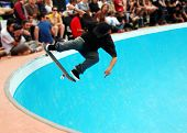 Skateboarding In A Pool
