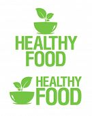Healthy Food icons set.
