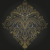 Elegant Vintage Vector Golden Ornament In Classic Style. Abstract Traditional Pattern With Oriental  poster