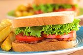 BLT Sandwich with French Fries