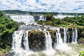 The Majestic Iguazu Falls, One Of The Wonders Of The World Located In Brazil. poster