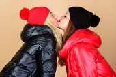 Glad To See You. Best Friends Forever. Winter Kiss. Best Friends Matching Outfits. Soulmates Girls K poster