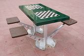 Chessboad Table In Spain