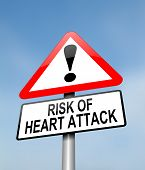 stock photo of heartbreak  - Illustration depicting a red and white triangular warning sign with a heart attack concept - JPG