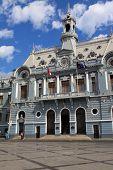 Monumento de la Armada De Chile, cerca del puerto de Valparaíso, patrimonio de la Unesco