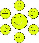 Yellow Asian smiles