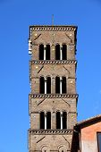 Medieval bell tower in Rome