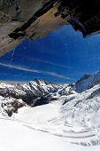 Постер, плакат: Шрекхорн пик 4078 м и Айсмеер ледник Бернер Оберланд Швейцария наследие ЮНЕСКО