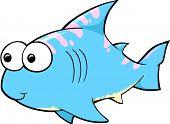 Cute Shark Vector Illustration