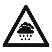 Attention Flood Icon. Simple Illustration Of Attention Flood Vector Icon For Web Design Isolated On  poster