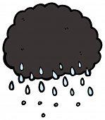 cartoon rain cloud
