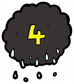 cartoon raincloud number four