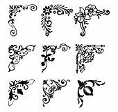 Decorative Victorian Flourish Corners And Dividers. Ornamental Curls Border, Royal Ornaments And Vin poster