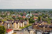 Panorama Of The City Of Tobolsk On A Summer Day. Panorama Of The Russian City. poster
