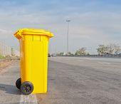 Garbage Bin On Highway