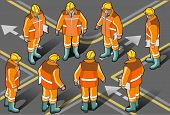 Isometric Foreman In Eight Positions