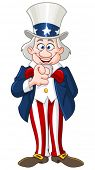 Uncle Sam pointing with his finger