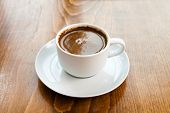Greek Turkish Coffee Served In A White Cup