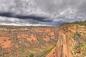 Thunder Clouds Over Canyon De Chelly