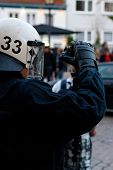Police Officer Films Protesters