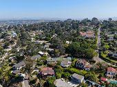 Aerial View Of Del Mar Coastline, San Diego County, California, Usa. poster