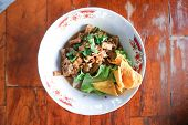 Noodle, Chinese Noodles Or Tofu Noodle And Fried Wonton poster