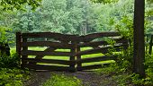 Rustical Wooden Gate