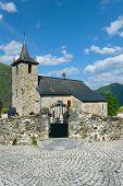 Church Of Larrau, Pirenees Atlantiques, Aquitaine, France