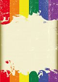 image of gay pride  - Grunge Gay flag - JPG