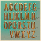 English wooden alphabet