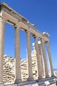 Columns Of Erechtheum Ancient Temple