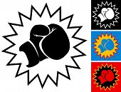 pic of punch  - Vector Illustration of  punch in boxing glove - JPG