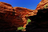 Shadow And Light In A Outback Canyon In Australia