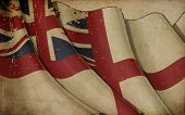 British Naval Flag Old Paper