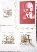 RUSSIA - CIRCA 1970: the four stamps printed by USSR shows  portrait of Socialist leader Lenin