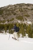 pic of beartooth  - snowshoeing up the lake fork in montana - JPG