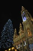 City Hall In Vienna At Christmas