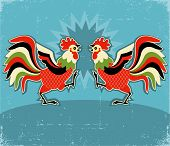 stock photo of fighting-rooster  - rooster fight - JPG