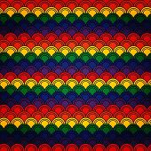 Rainbow coloured seamless pattern