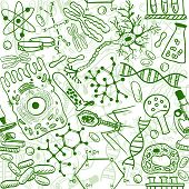 Biology Seamless Pattern