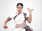 Indian Classical Female Dancer Bharathanatyam
