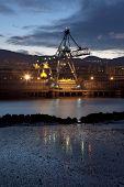 Crane In Sestao, Bizkaia, Basque Country, Spain