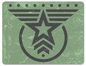 Emblema de grunge de estilo militar