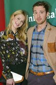 PASADENA, CA - JAN. 7: Kristen Hager and Sam Huntington arrives at the NBCUniversal 2013 Winter Pres