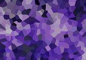 Pequeños cristales púrpuras